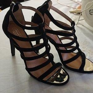 "Coach black 4"" heels"
